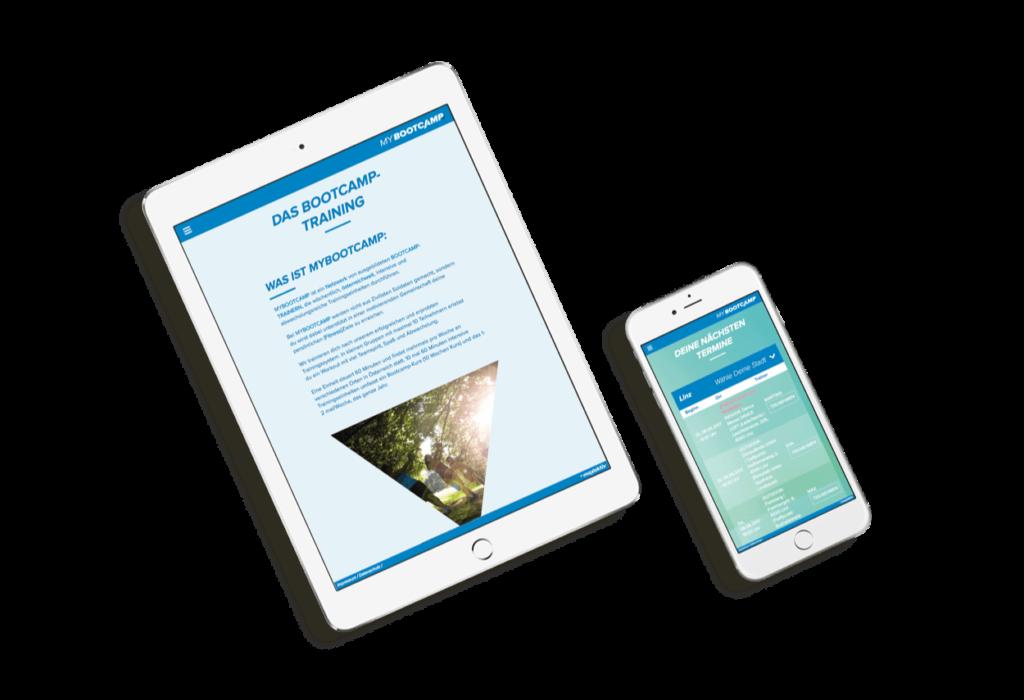 MyBootcamp Tablet und Iphone