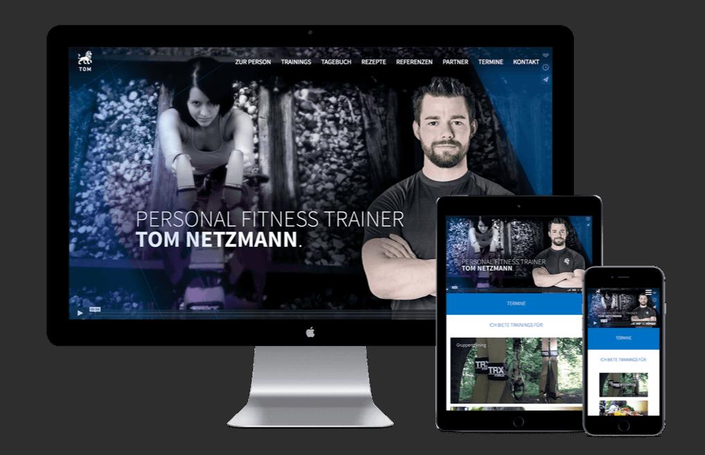Tom Netzmann Webseite verschiedene Geräte